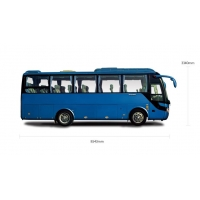 Cheap 6 Tire Brand new yutong bus rear engine 35 Seats ZK6858 with disoucnt price in promotion for sale