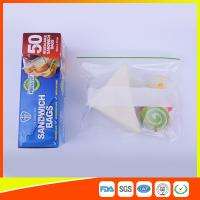Multi Size Ziplock Plastic Bags For Food Storage , Zip Sandwich Bags OEM Acceptable