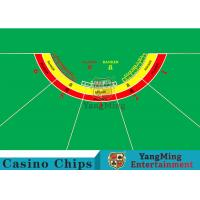 Waterproof Half Round Casino Table Layout With Specialized Patterns / Colors