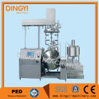 Cheap Stainless Steel Vacuum Emulsifying Mixer , Cosmetic Cream Mixers With PLC Control for sale