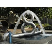 Quality 8 Shape Sculpture Modern Stainless Steel Outdoor Water Fountain wholesale
