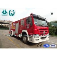 Quality 4X2 Howo Water Foam Fire Engine Vehicle With Anti Slip Handrails wholesale
