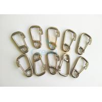 Cheap Stainless Steel D Ring Hooks / Snap Carabiner Hook With Eye And Lock Hardware for sale