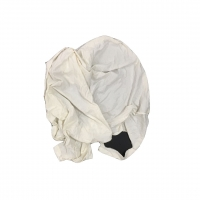Cheap SGS Light White Cotton Industrial Wiping Rags 100kg/bag for sale