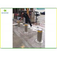 Quality Remote Control Hydraulic Rising Bollards , Electric Retractable Bollards Height wholesale