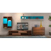 Cheap 2017 New Living room Furniture TV Wall Unit Floor stand Hang cabinet in MDF melamine with High glossy panel for sale