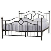 Cheap Glossy Finish Black Iron Platform Bed , Black Pipe Bed Frame Tools Free Assembly for sale