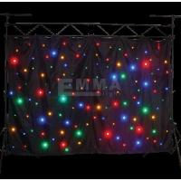 Cheap single color mixed RGBW LED star curtain for show with fireproof black velvet for sale