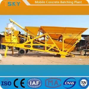 Cheap Skip Hoist Feeding HZS50 Mobile Concrete Batching Plant for sale