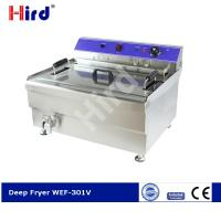 Cheap CE electric deep fryer for industrial kitchen units countertop fryer with tap WF-301V / EF-301V for sale