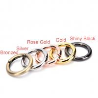 Cheap Zinc Alloy Handbag Rings Hardware Round Spring Gate O Ring User Friendly for sale