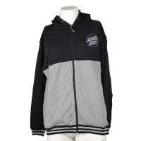 Cheap Men Black Grey Hooded Zippered Sweatshirt Jackets With Letter Printed Patterns for sale