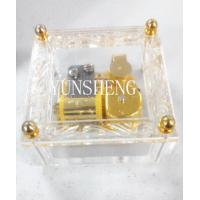 Cheap Transparent with Glitter Cube Music Box (LP22) for sale