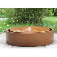 Cheap Round Large Water Feature Contemporary Garden Decoration 150cm Dia Size for sale