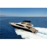 Buy cheap High End Leisure Speed Luxury Motor Yachts 82 Feet White And Red Color from wholesalers
