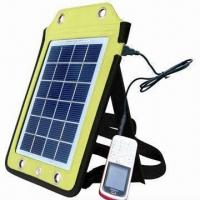 Cheap Portable Solar Charger, Apply to Charging Outdoor, 6V/410mA Solar Panel Output for sale