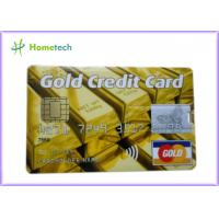 China Real Capacity 2gb / 4gb / 8gb  16gb 32gb GOLD Credit Card shape USB Storage Deivce on sale