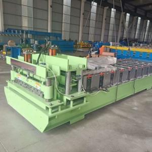 Cheap Siemen PLC Control System Glazed Tile Roll Forming Machine Roller Diameter 75mm for sale