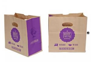 Cheap Spout Top Flexo Printing Fast Food Paper Bags for sale