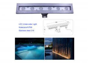 Cheap SS 316 Underwater Lamp LED Submersible Light For Beautiful Bright Long Lasting Pond Pool Fountain Lighting for sale