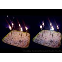 Long Thin Birthday Sparkler Candles Earthy Yellow 11g 0.26 * 9.9cm Wax Material Manufactures