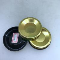 Quality Gold Silver Iron Round Can Cover / ID73mm 300# Paper Tube Tin Bottom Lids wholesale