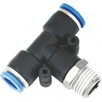 T Type Pneumatic NPT Threaded Fittings , Pneumatic Push Fit Connectors Manufactures