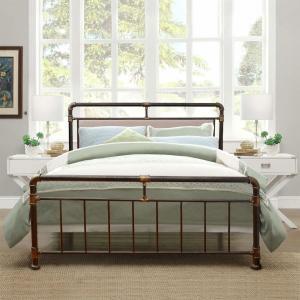 Cheap Comfortable Steel Bed Frame , Cast Iron Platform Bed Mildew Proof For Bedroom for sale