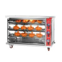 Cheap SS Kitchen Cooking Equipment Chicken Commercial Rotisserie Oven Machine Gas for sale