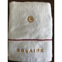 Cheap hotel towel sets 100% cotton with embroidery 5 star hotel logo for sale