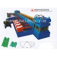 Cheap gear rotation Hydraulic Anti Crash Barrier Highway Guardrail Roll Forming Machine With 18 Rows Of Rollers for sale