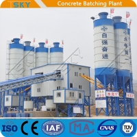 Cheap 2x55KW HZS180 Ready Mixed Concrete Batching Plant for sale