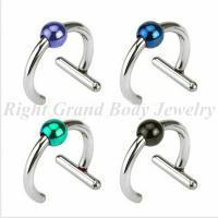 Cheap 316L Steel Non Piercing Captive Bead Rings, Anodized Ball BCR for sale