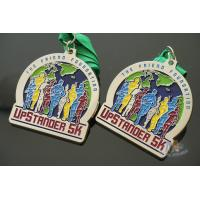 Cheap Matt Silver Plating Custom Sports Medals / Upstander 5K Medal for sale