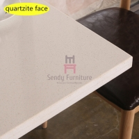 Cheap Waterproof Quartz Stone Restaurant Table Top Material 2ft By 2ft for sale