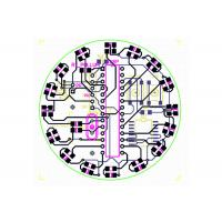 Cheap Single / Double Layer Aluminum Electronic Circuits PCB Layout For LED PCBA Gerber Files for sale