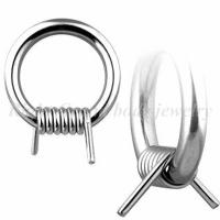 Cheap Customized Non - Allergic 316L Surgical Steel Wire Captive Bead Rings / Body Jewelry For Nose for sale