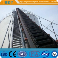 Cheap SGS Large Angle 2.5m/s B1000 Rubber Belt Conveyor for sale