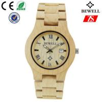 Cheap Hign End Men Wooden Strap Watch Waterproof With Japan Battery , OEM ODM Service for sale