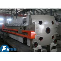 China Sludge / Wastewater Cast Iron Filter Press , Plate And Frame Chamber Filter Press Unit on sale