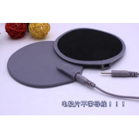 Cheap Wholesale 4 inch round carbon rubber electrodes tens pads electrotherapy equipments for sale