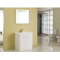 Free Standing White Flush Color Square Sinks Bathroom Vanities ISO2000 Standard Manufactures