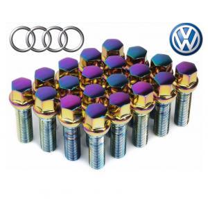 Cheap Coloured VW Wheel Bolts 14x1.5 Thread Pitch , Chrome Lug Bolts 10.9 Grade Solid for sale