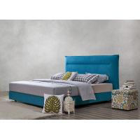 Cheap Fabric Upholstered Headboard Bed SOHO Apartment Bedroom interior fitout Leisure Furniture for sale