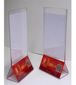 China Clear Acrylic Sign Holder/acrylic table menu holder/acrylic table display on sale