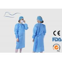 Cheap Blue Disposable Surgical Gown Eco Friendly Material CE / ISO Certification for sale
