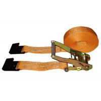 Cheap 5000kg Polyester Webbing Slings With Flat Hook / Cargo Lashing Strap for sale