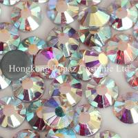 Cheap SS16/4mm clear ab Crystal AB Hot Fix Rhinestones China wholesale for sale
