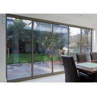 Cheap American Thermal Break Residential Aluminium Sliding Doors With Security Wire Mesh for sale
