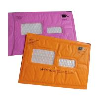 Cheap Pink Kraft Shipping Envelopes , Kraft Padded Mailers Window Ideal For Address Label for sale
